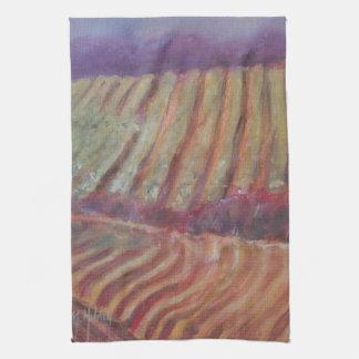 Vides de California de los viñedos de Sonoma Toallas