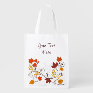 Vides de la hoja del otoño con el texto adaptable bolsa para la compra