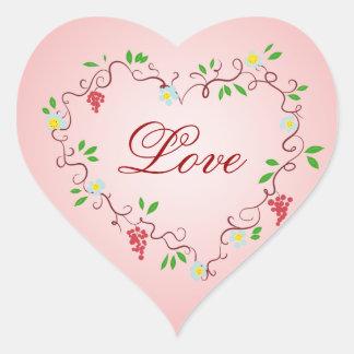 Vides del corazón pegatinas corazon personalizadas