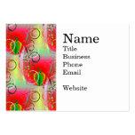 Vides florales de la primavera amarilla verde roja plantillas de tarjetas personales