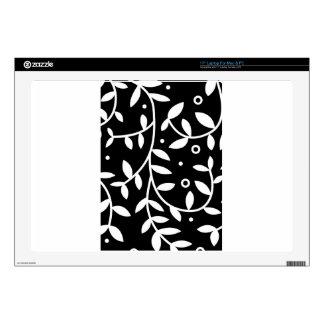 Vides florales negras y blancas contemporáneas portátil skin