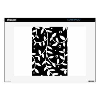 Vides florales negras y blancas contemporáneas portátil skins