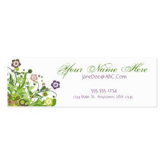 Vides florales plantillas de tarjeta de negocio