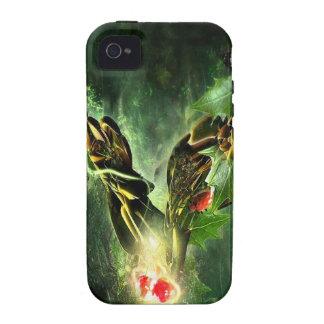 Vides frescas abstractas de la mariposa de la mari vibe iPhone 4 funda