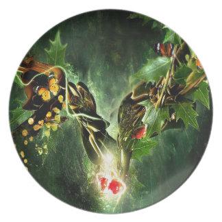 Vides frescas abstractas de la mariposa de la mari plato para fiesta
