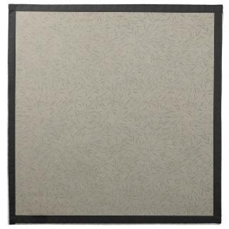 Vides grabadas en relieve gris de aluminio de la servilletas imprimidas