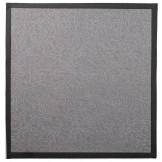 Vides grabadas en relieve gris de la hoja de la servilletas