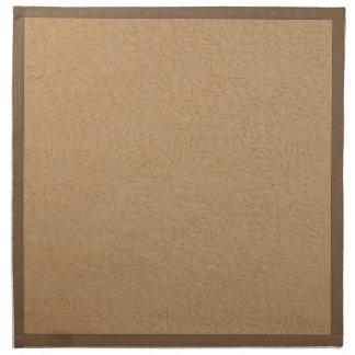 Vides grabadas en relieve oro de la hoja del trigo servilleta imprimida