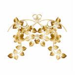 Vides y flores entrelazadas de oro escultura fotográfica