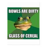 Vidrio asqueroso de la rana del soltero de cereal postales