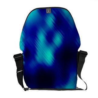Vidrio azul abstracto bolsas messenger