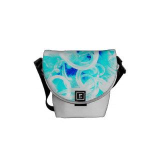 Vidrio azul bolsa de mensajería