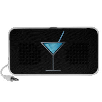 Vidrio azul de Martini del cóctel Laptop Altavoces