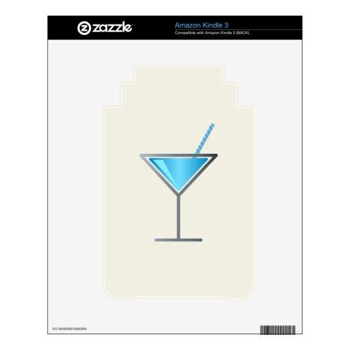 Vidrio azul de Martini del cóctel Kindle Calcomanías