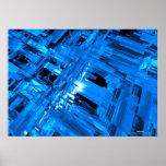 vidrio azul impresiones