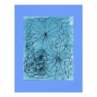 Vidrio azul membretes personalizados