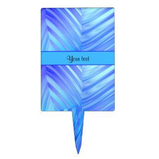Vidrio azul ondulado decoración para tarta