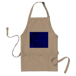 Vidrio azul roto extracto delantal
