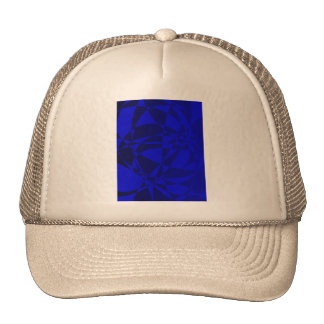 Vidrio azul roto extracto gorras de camionero