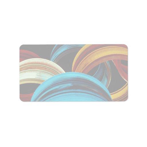 Vidrio coloreado etiquetas de dirección