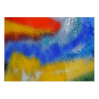 Vidrio coloreado tarjetas de visita grandes