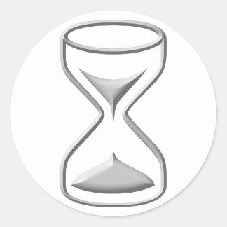 Vidrio/contador de tiempo de la hora pegatina redonda