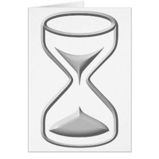 Vidrio/contador de tiempo de la hora tarjeta de felicitación
