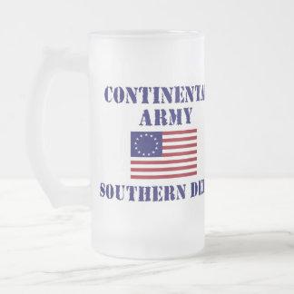 Vidrio continental del ejército de la guerra de taza de cristal