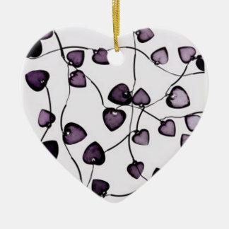 vidrio-corazones adorno