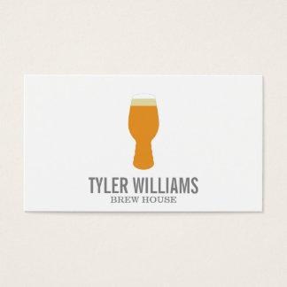 Vidrio de cerveza 2 tarjetas de visita