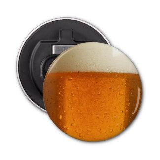 Vidrio de cerveza abrebotellas redondo