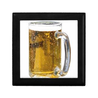 Vidrio de cerveza cajas de recuerdo