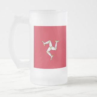 Vidrio de cerveza de la Isla de Man de la bandera Taza De Cristal