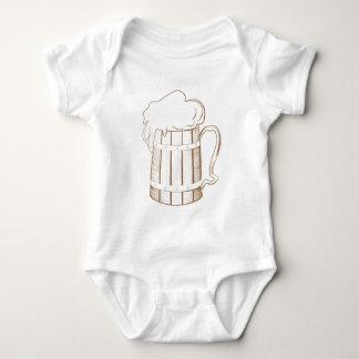 Vidrio de cerveza de madera del vintage body para bebé