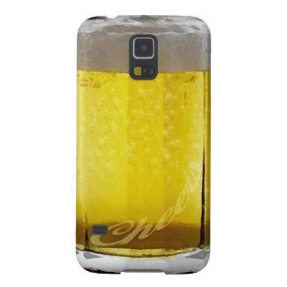 Vidrio de cerveza divertido carcasas de galaxy s5