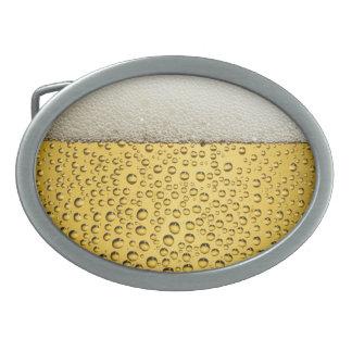 Vidrio de cerveza hebillas cinturón ovales