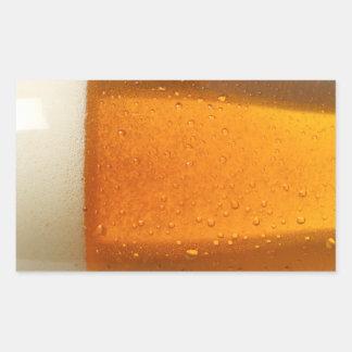 Vidrio de cerveza pegatina rectangular