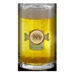 Vidrio de cerveza personalizado divertido tarjetas personales