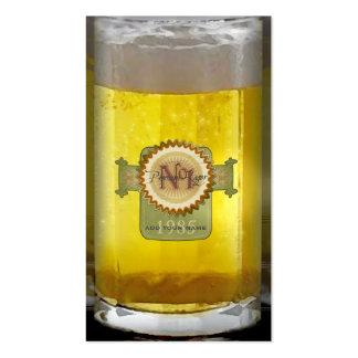 Vidrio de cerveza personalizado divertido tarjetas de visita