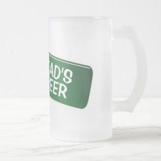 Vidrio de cerveza personalizado para el regalo del taza