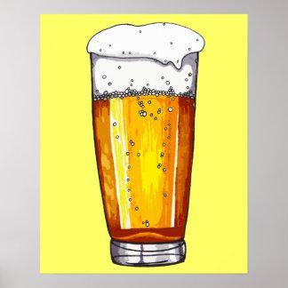 Vidrio de cerveza póster