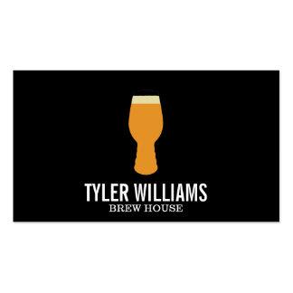 Vidrio de cerveza tarjetas de visita