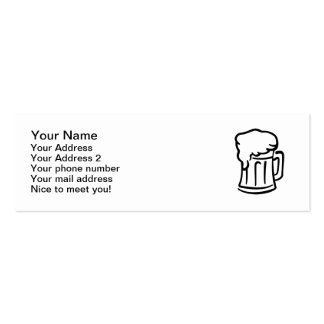 Vidrio de cerveza tarjetas de visita mini