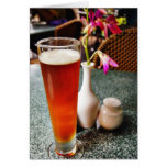 Vidrio de cerveza tarjeton