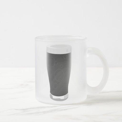 Vidrio de cerveza valiente taza cristal mate