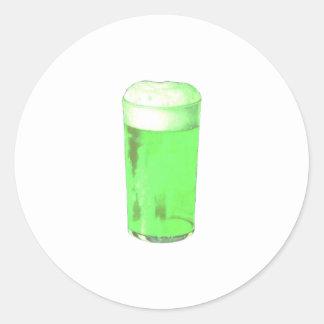 Vidrio de cerveza verde pegatina