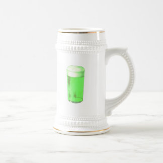 Vidrio de cerveza verde jarra de cerveza