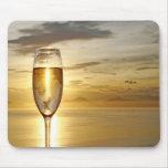 vidrio de champán tapete de ratones