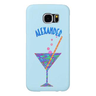 Vidrio de cóctel azul de la hora feliz Martini Funda Samsung Galaxy S6
