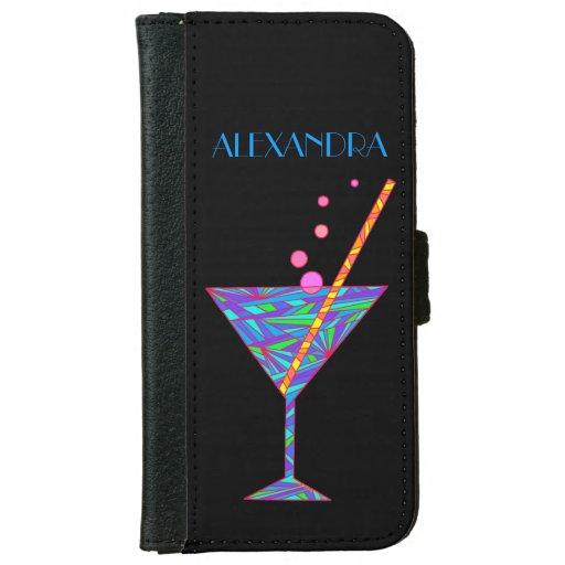 Vidrio de cóctel azul de la hora feliz Martini